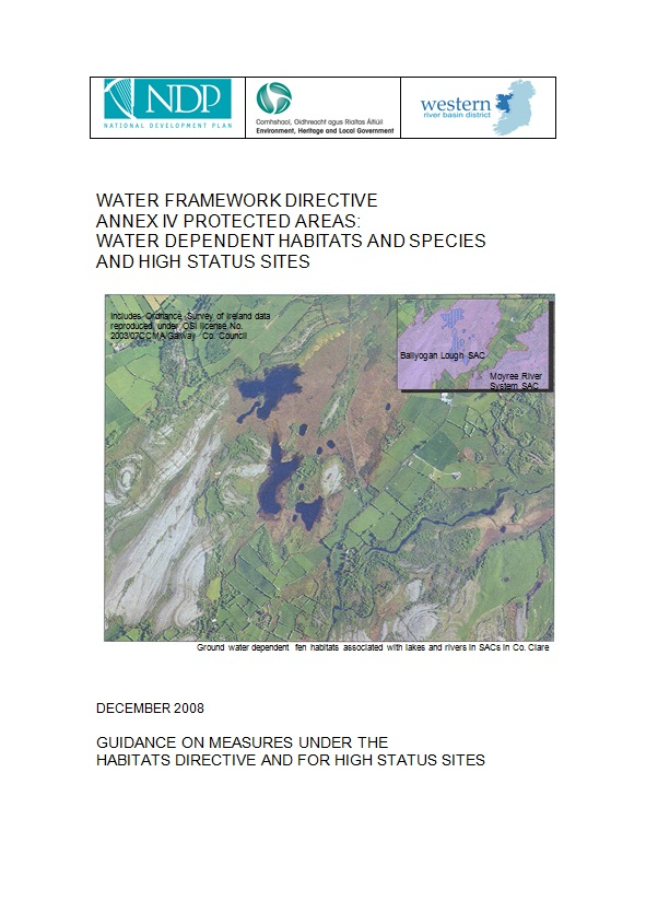 Water Dependent Species and Habitats Guidance (2008)