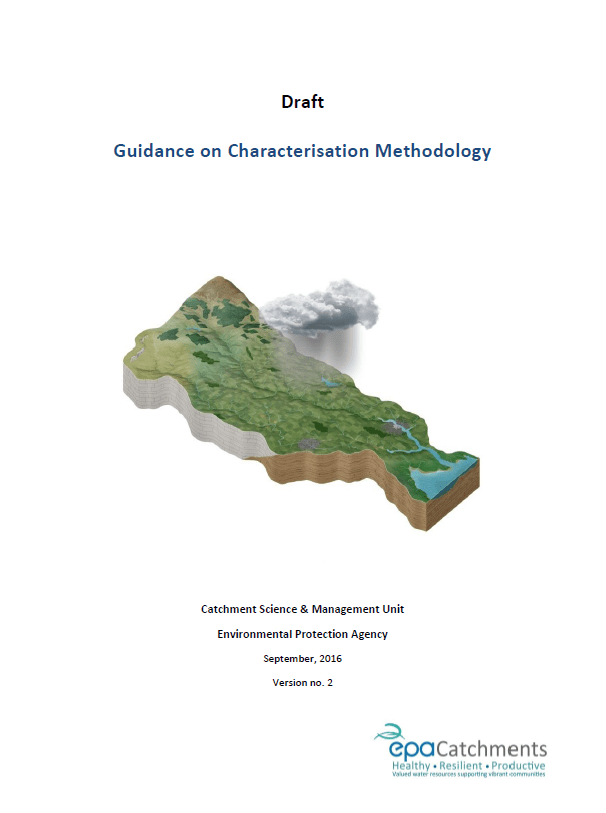 Water Framework Directive Guidance on Characterisation Methodology V2.0 - September 2016