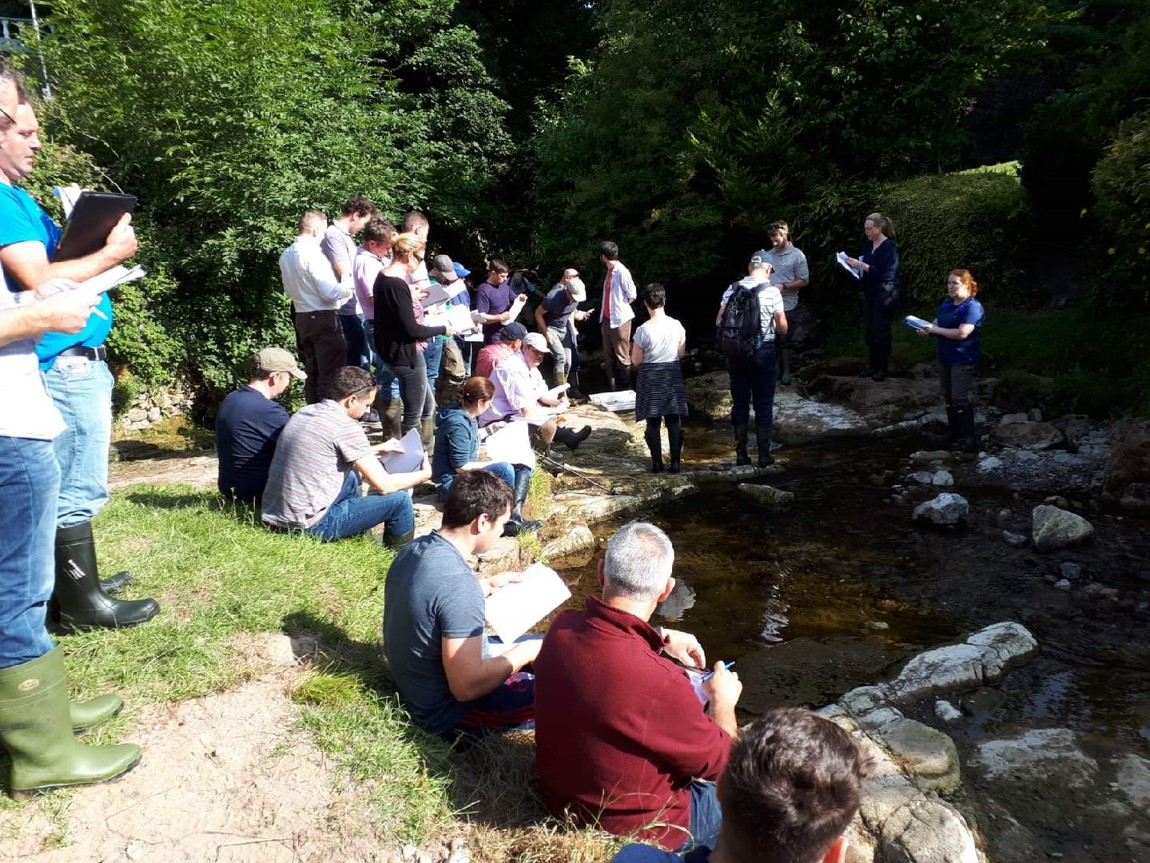 Catchment management networking in a river
