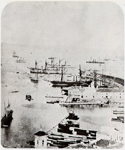 The Italian fleet at Ancona