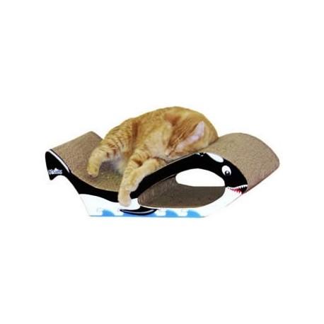 whale shaped cardboard cat