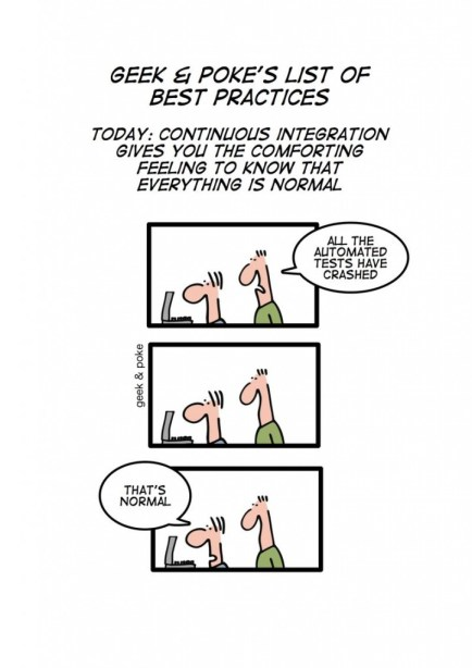 Geek&Poke's List Of Best Practices - Today: Continuous Integration