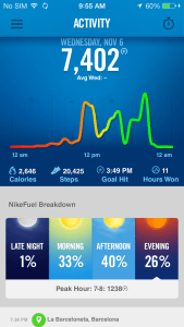 Activity Tracking on the Nike Fuelband iOS App