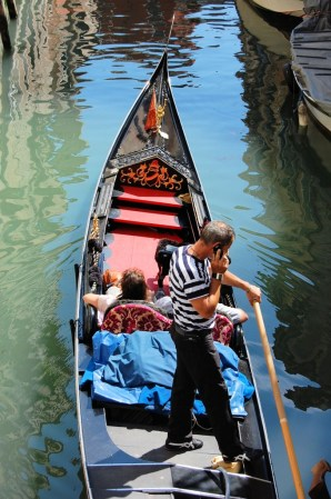 gondolier on phone