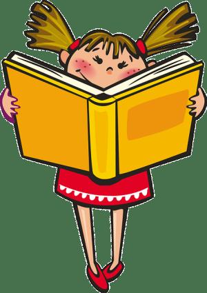 Girl Book School Reading Learning Happy