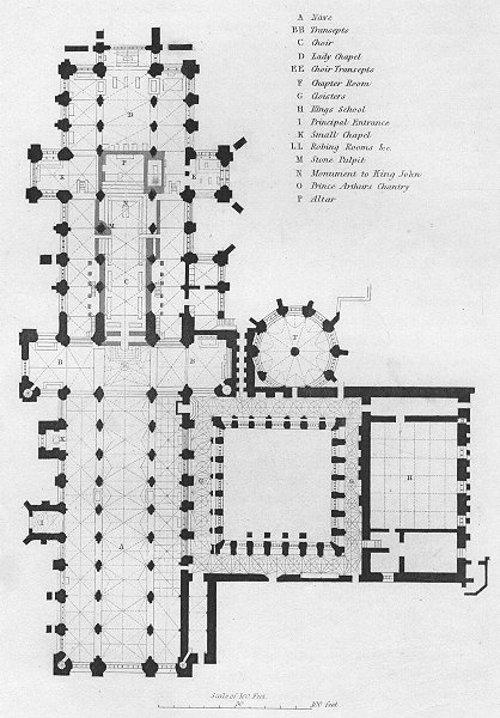 Plantas de catedrales de Inglaterra