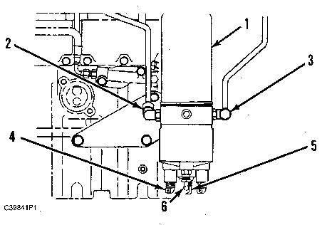 3100 HEUI Truck Engine Fuel Heater And Water Separator