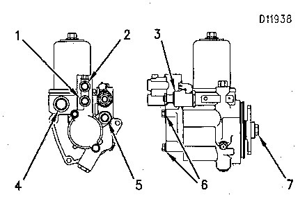 3116 and 3126 Truck Engines Hydraulic Pump Group (Fuel
