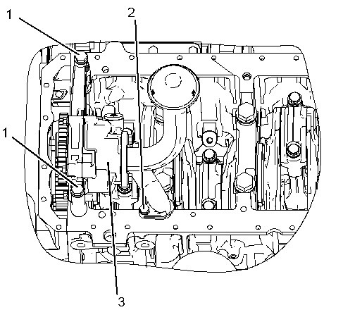 3116 and 3126 Truck Engines Engine Oil Pump