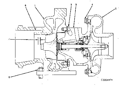 3116 and 3126 HEUI Truck Engines Turbocharger