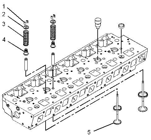 3116 and 3126 Truck Engines Inlet and Exhaust Valves