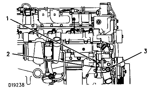 3116 and 3126 Truck Engines Water Pump Pressure Check