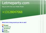 Letmeparty.com postare sul blog via SMS
