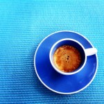 Coffee in blue