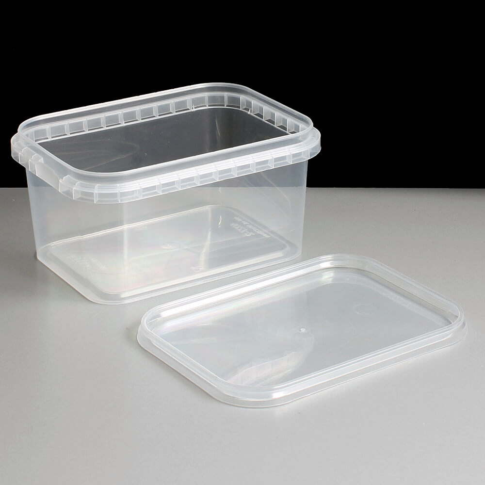 Rectangular 480ml Tamper Evident Container And Lids