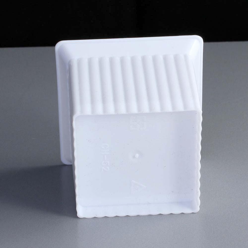 Small Plastic Square Ramekin  White
