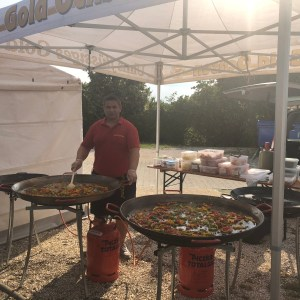 Sommerfest paella Live Catering