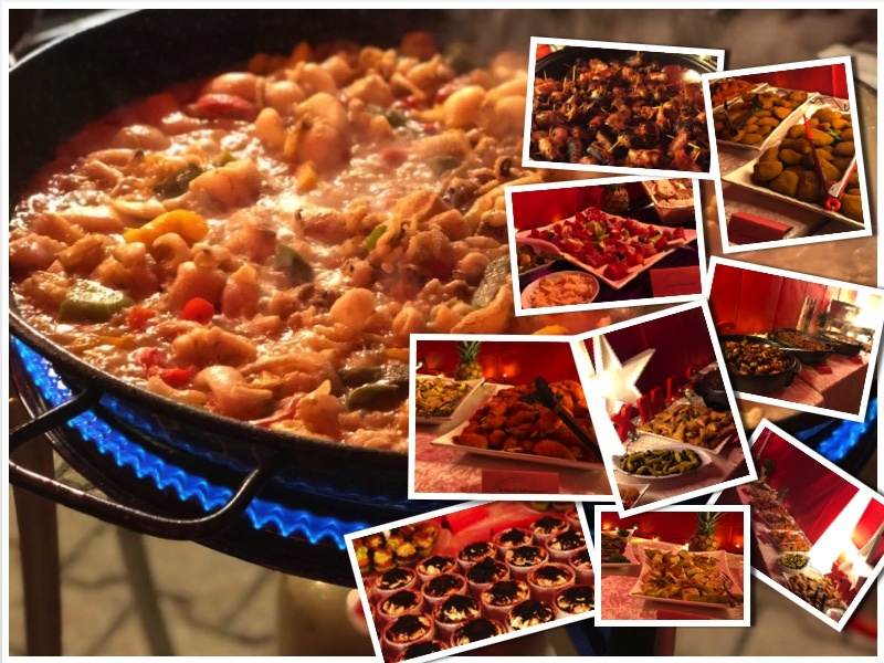 Collage Paella catering