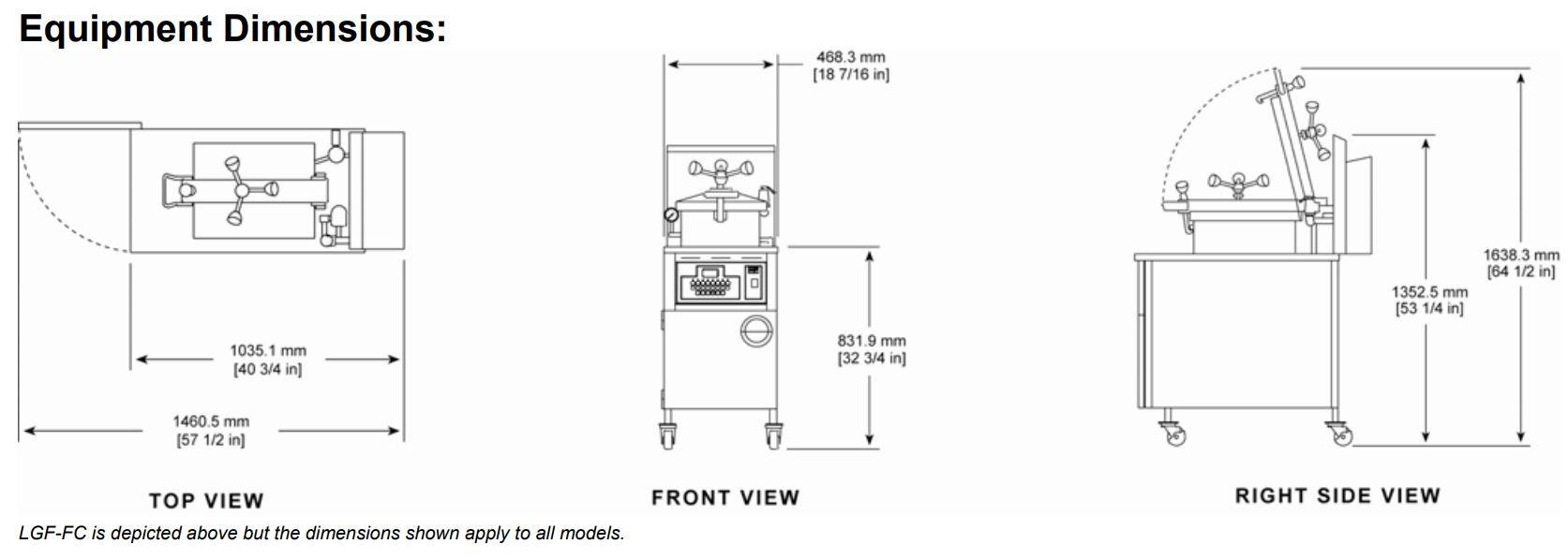 BKI LGF-F Gas Pressure Fryer with Manual Controls