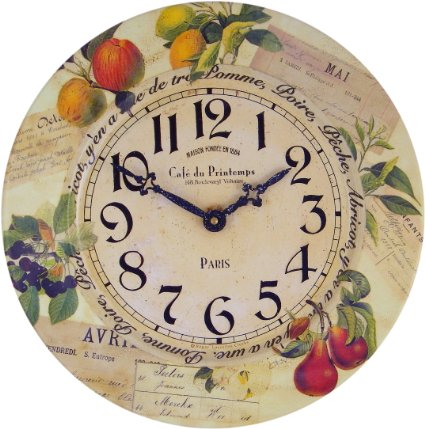 Beautiful Vintage Fruit Kitchen Wall Clock  Catering The Chef