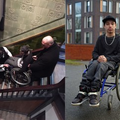 Wheelchair Man West Elm Outdoor Rocking Chair In Thrown Out Of Pub For Posing Safety Risk
