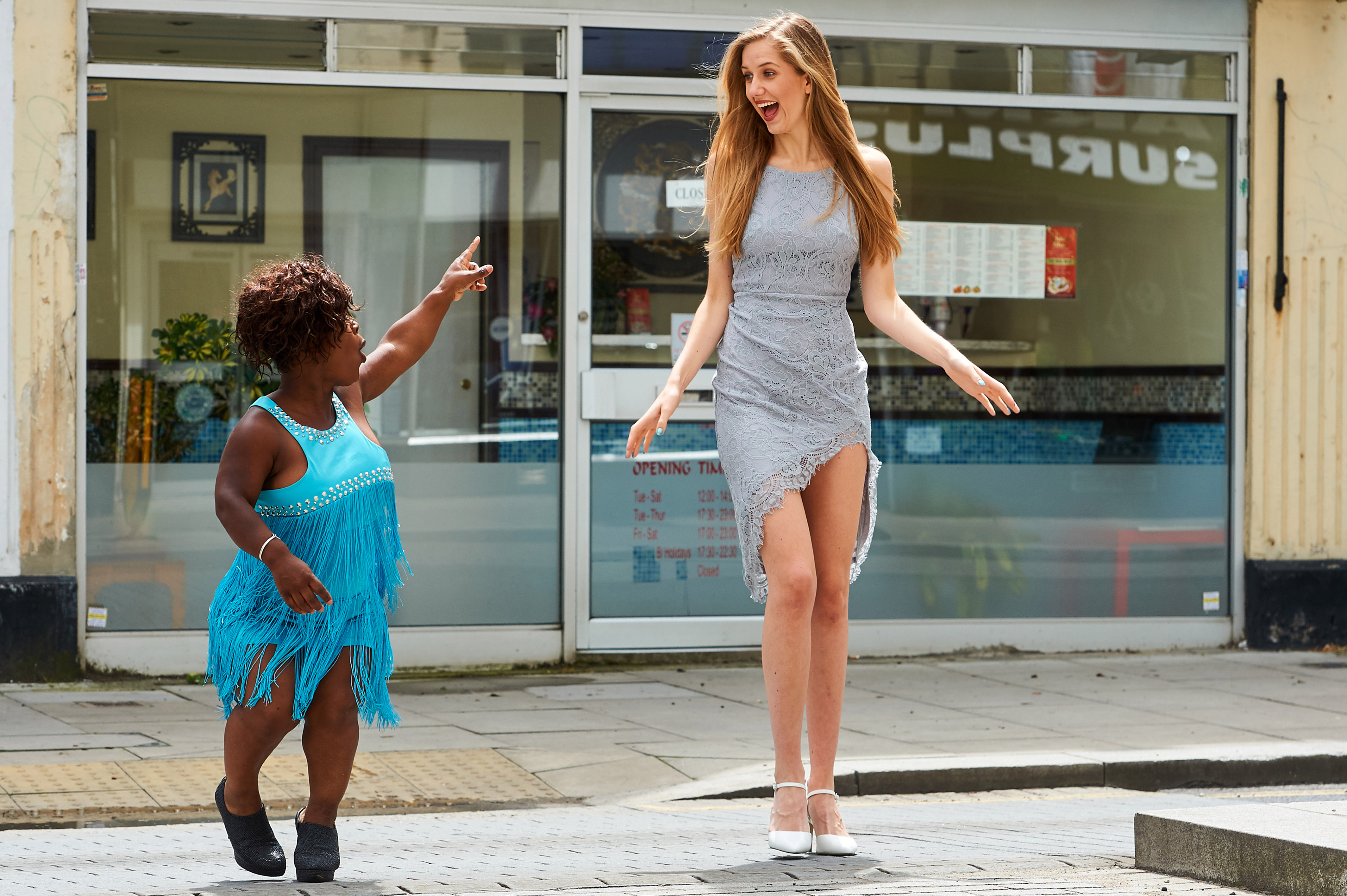 Is this Britain's smallest model? Tiny 4ft woman hits the