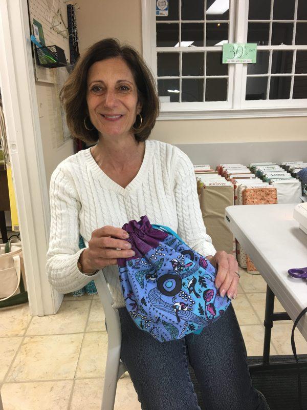 School of Sewing Drawstring Bag