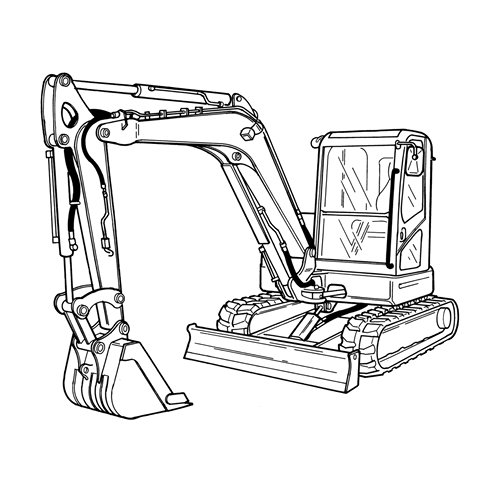 Doosan E80 Compact Excavator Service Parts Catalogue