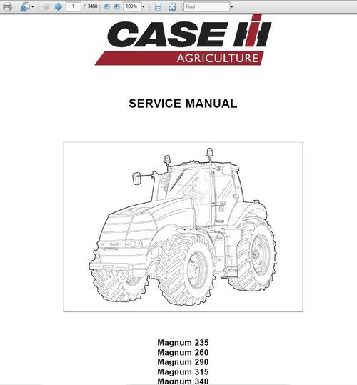 Case Ih Jx60 Jx70 Jx80 Jx90 Jx95 Tractor Operators Manual