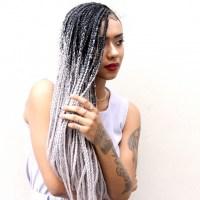 Silver Grey Crochet Braids | Short Hairstyle 2013