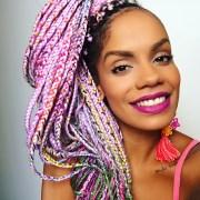 catface hair rainbow ombre jumbo
