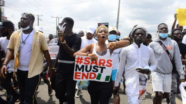 #endsars nigeria protests