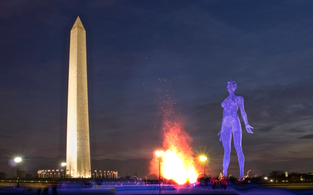 The Gingriches Were Very Alarmed About A 45-Foot-Tall Naked Sculpture