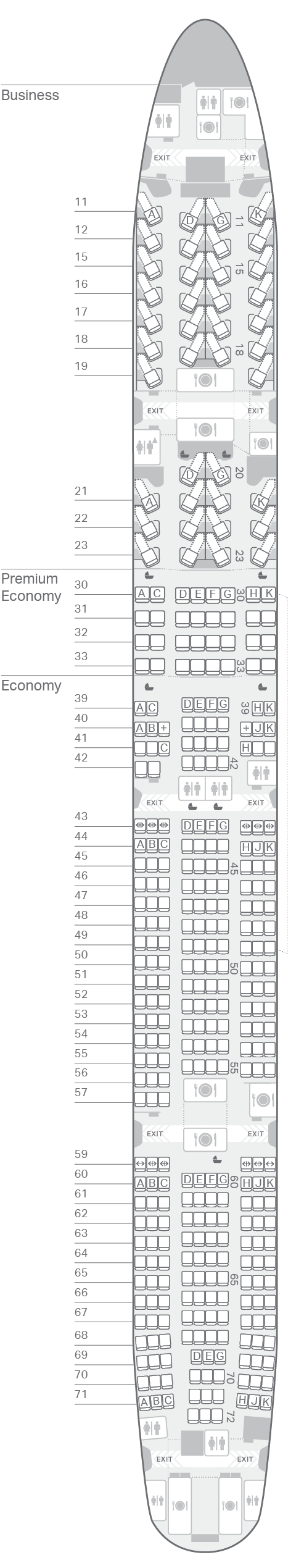 hight resolution of 777 300 73k seating plan