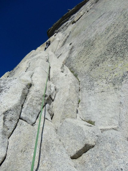 Alexa leading the Zig-Zags on Half Dome.