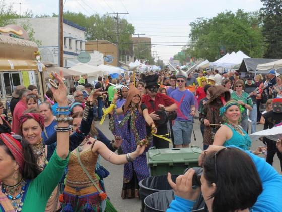 The annual Streetfair Parade.
