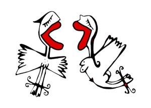 pareja con alas