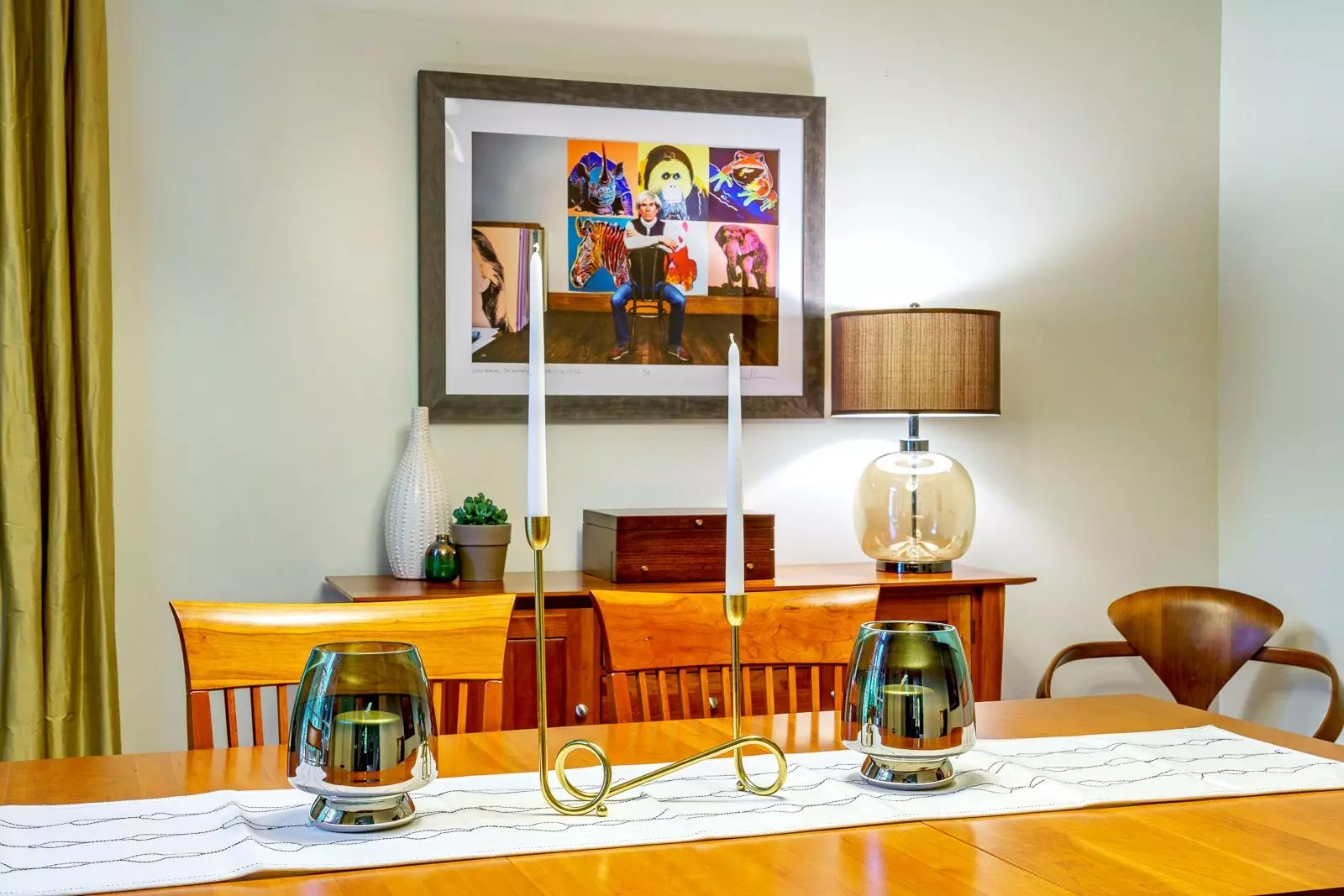 Andy Warhol Art in Dining Room - Cat French Design