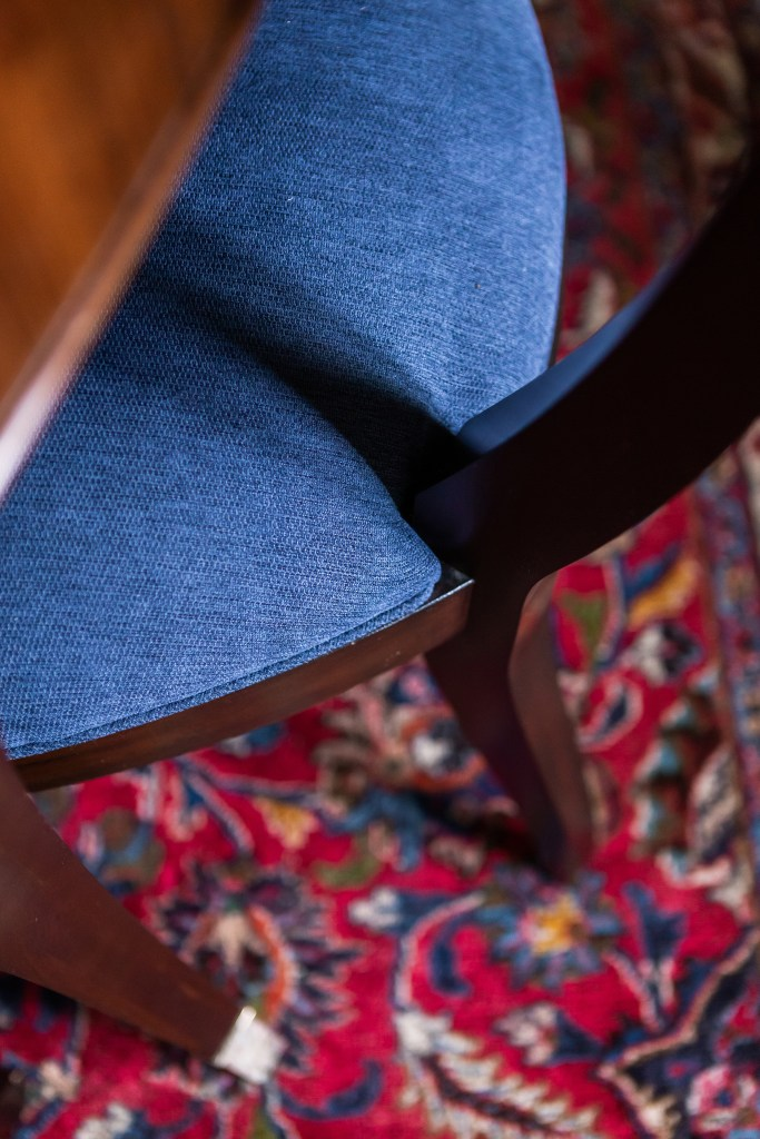 Blue Reupholstered Chairs  - Cat French Design Chapel Hill