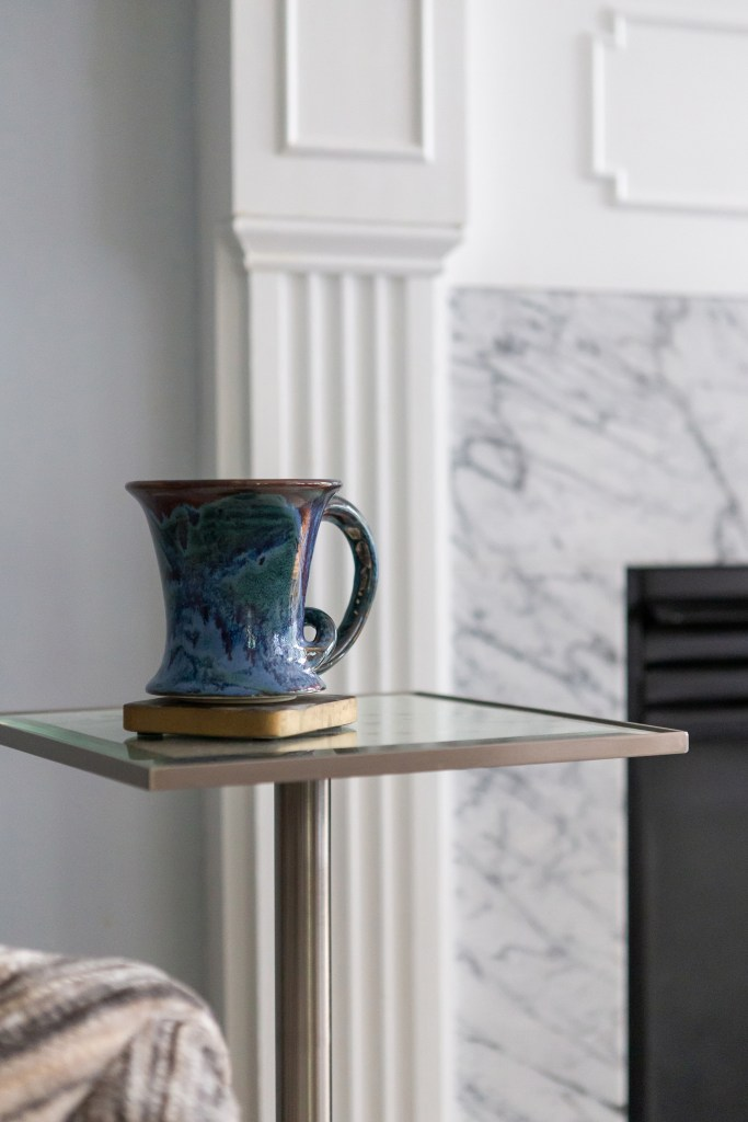 Small side table in Chapel HIll Living Room - Cat French Design