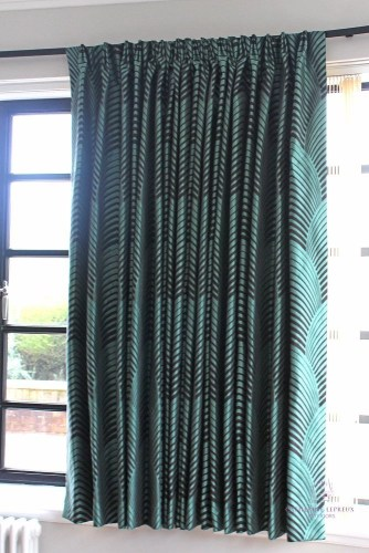 curtain maker bespoke curtains curved Art Deco window