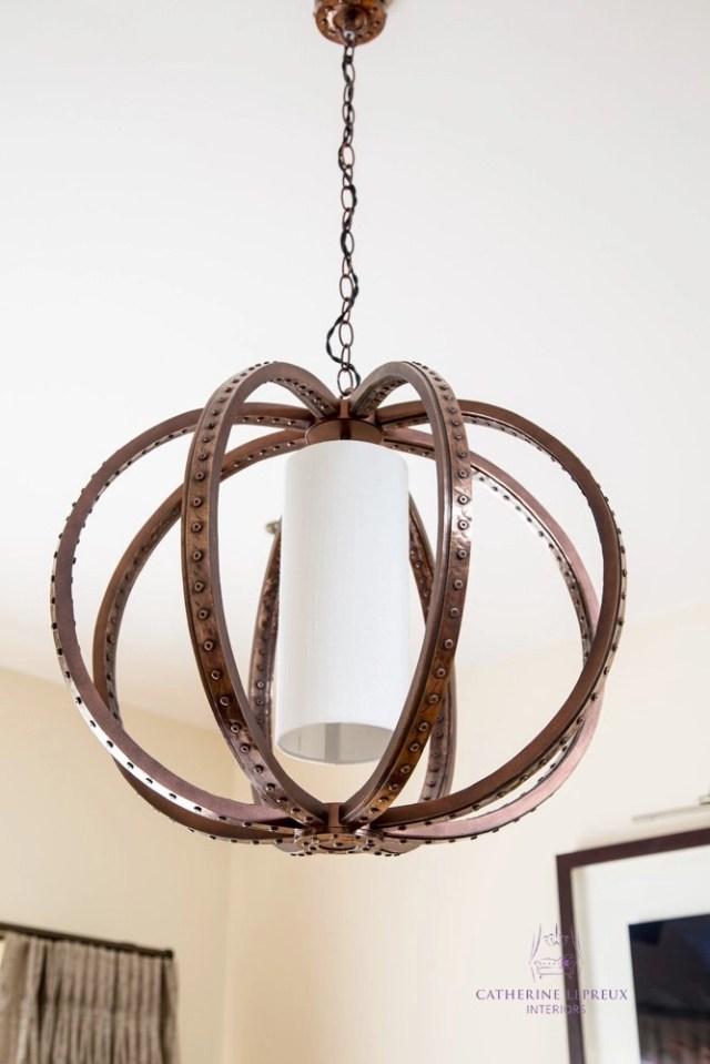 Edinburgh interior design David Hunt copper orb ceiling light