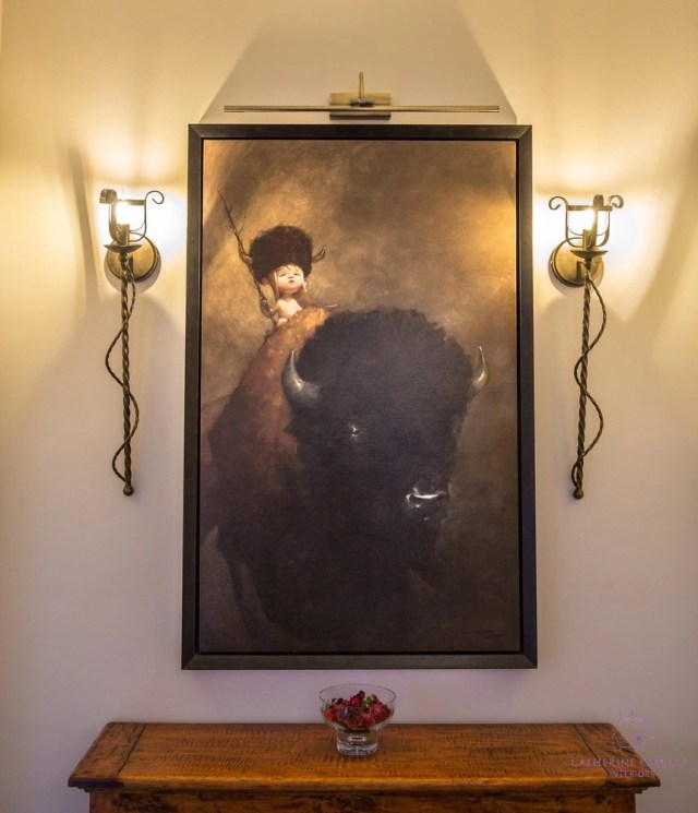 Edinburgh interior design bespoke flambeaux style wall lights