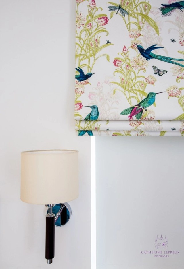 Interior design Edinburgh downsizing modern bedside walnut wall light