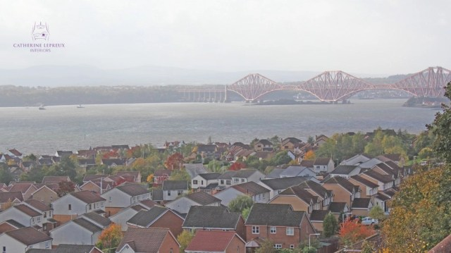 curtainmaker Edinburgh Fife Dalgety Bay luxury B&B view Forth Bridge