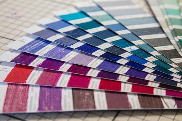 Curtain maker Edinburgh silk sample card
