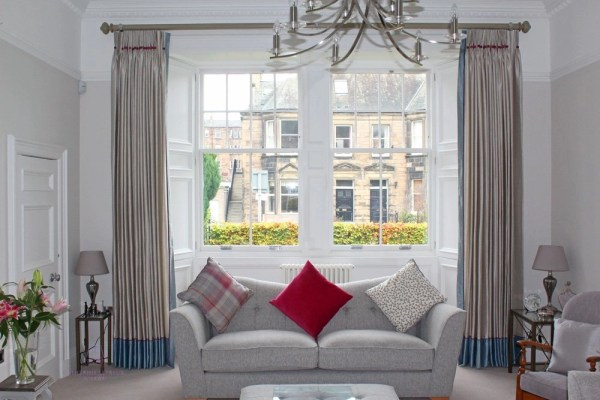 hand made silk curtains traditional Edinburgh window