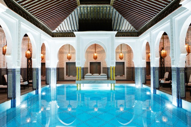 La+Mamounia+Marrakech+Spa+Pool+Hammam+2015+
