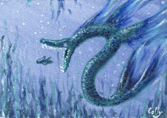 Illustration in acrylic paint.