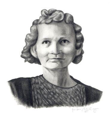 Portrait of my great-grandma Annie. Graphite.